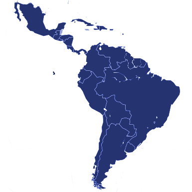 Latin America & Caribbean Map
