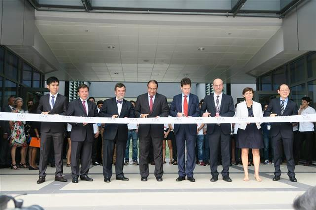Ribbon-cutting ceremony in Singapore